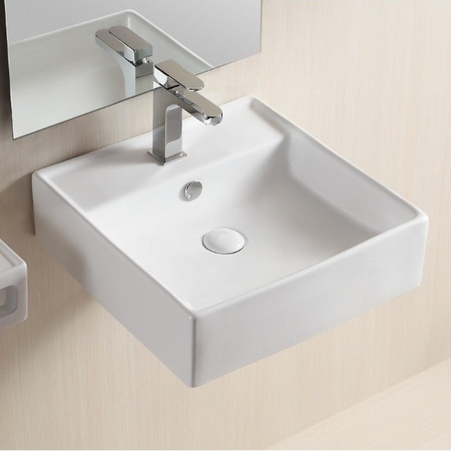 Wall Mounted Square Bathroom Sink By Caracalla  Modern