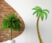Palm Tree Vinyl Wall Decal PalmTreeUScolor006; 12 in ...