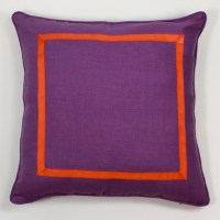 Purple And Orange Pillow - Contemporary - Decorative ...