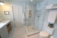 Carrera Marble master bath remodel - Traditional ...