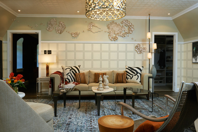 Living Room Ceilings with Tin Tiles  Eclectic  Living