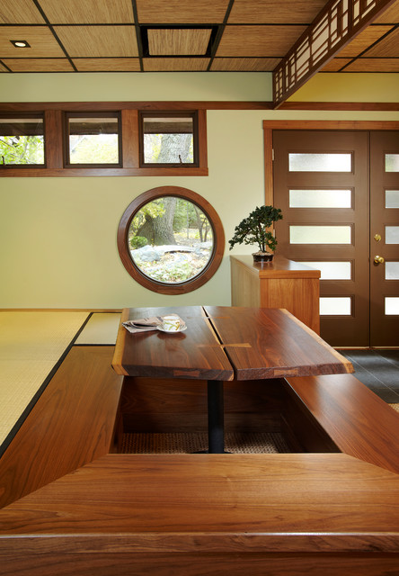 Ryokan Japanese Guest House Interior  Asian  Dining
