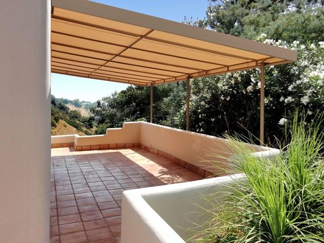 Stationary Canvas Patio Cover  Mediterranean  los