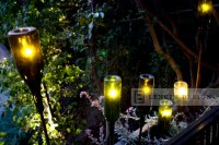 Contemporary Planter with Wine Bottle Lighting - Eclectic ...