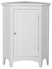 Slone Corner Floor Cabinet with 1 Shutter Door ...