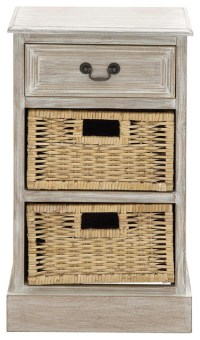 Urban Designs Weathered 3-Drawer Storage Chest Night Stand ...