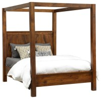 Rustic Wood Canopy Bed - Queen Size - Rustic - Canopy Beds ...