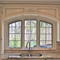 Custom arched valance traditional kitchen chicago by great