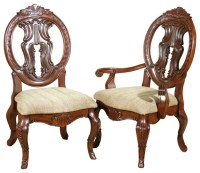 Set of 8 Solid Mahogany Victorian Round Back Dining Chairs ...