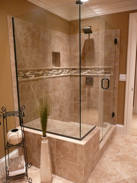 Tiled Bathroom Shower  Traditional  Bathroom