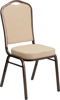 Hercules Series Crown Back Stacking Banquet Chair with ...