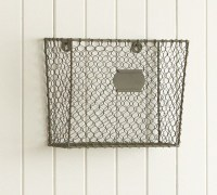 Wire Mesh Wall-Mount Magazine Rack - Eclectic - Storage ...