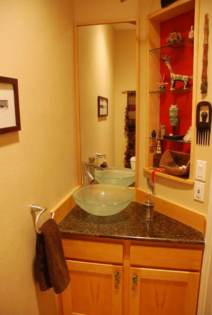 My Houzz Renovation  Eclectic  Powder Room  austin  by