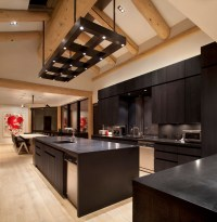 Masculine Custom Light Fixture - Contemporary - Kitchen ...