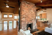 Fireplace at the center - Contemporary - Living Room - dc ...