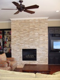 Splitface Fireplace traditional-living-room
