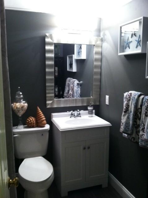 Small Coastal Bathroom  Tropical  Bathroom  orange county  by SKD STUDIOS