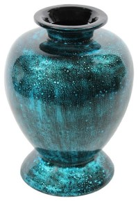Teal Lacquer Bamboo Vase - SKU: EN30493 - Vases - by ...