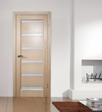 Tokyo White Oak Modern Interior Door With Frosted Glass ...