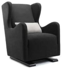 Monte Vola Glider in Bonded Leather, Black - Modern ...
