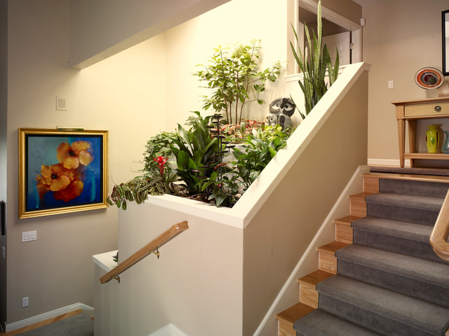 Contemporary staircase with indoor planter  Contemporary  Staircase  san francisco  by Lila