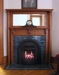 Victorian fireplace insert gas (After) - Traditional ...