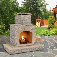 Cal Flame Natural Stone 78 in. Outdoor Fireplace - FRP908 ...