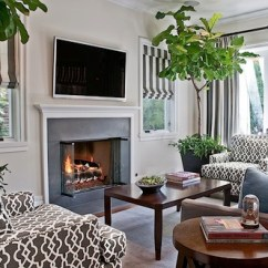 Living Room Tree Sears Canada Rugs Say Goodbye To Artificial Plants And Put A Fig In Every This Has High Ceiling Which Lends Itself Well The Impressive Stature Of Fiddle Leaf
