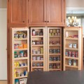 Interior of large pantry cabinet eclectic kitchen boston by