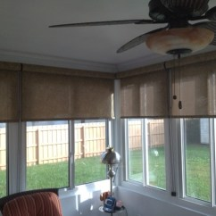 Outdoor Kitchens Orlando Kitchen Cabinets Crown Molding Signature Series Roller Shades - Traditional Porch ...