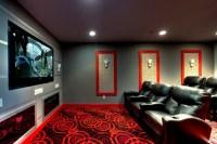 Ruby Dottie Joy Carpet Theater Room - Modern - Home ...