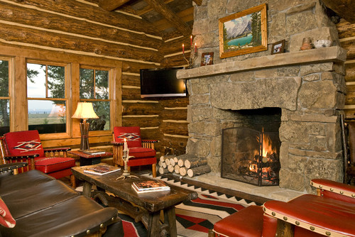 cabin living room decorating ideas images for designs style town country rustic by other metro general contractors teton heritage builders