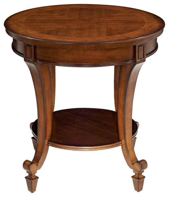 photos traditional demilune collection round end table traditional nightstands and bedside tables