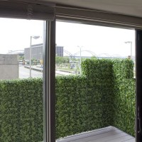 Artificial Outdoor Ivy Railing Hedge