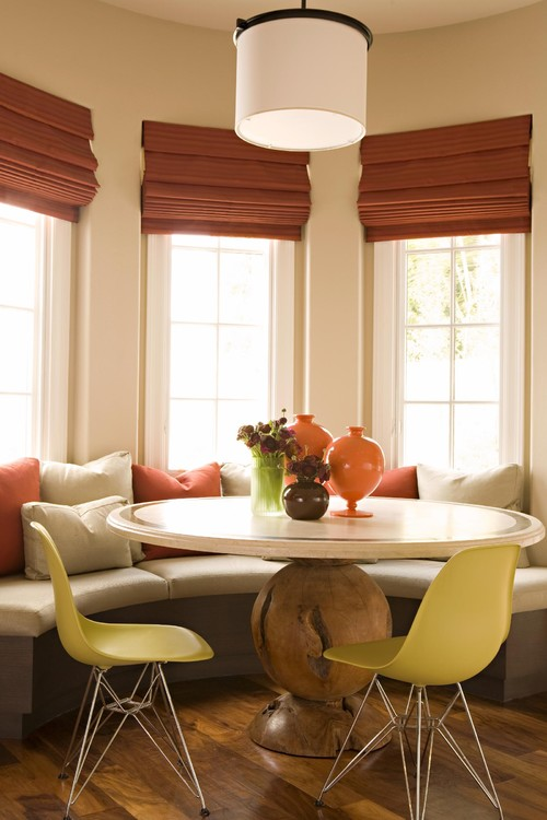 window dressing ideas for living rooms gray with brown furniture dining room treatment be home roman shades
