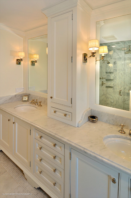 Classic Master Bathroom Vanity  Traditional  Bathroom  chicago  by Melichar Architects