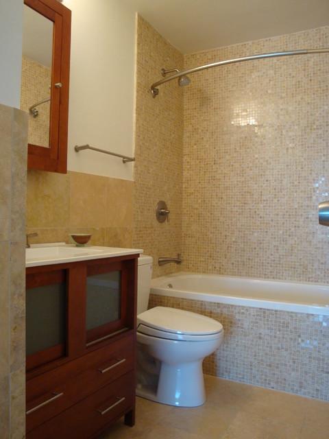 Small Bathroom in Lincoln Park Condo  Contemporary