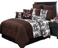 Bliss Chocolate Luxury 8-Piece comforter Set, Cal-King ...