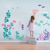 Under the Sea Wall Decal, Color Scheme A - Transitional ...