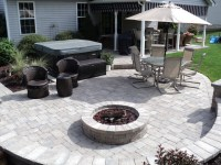 Hot Tub Patio with Fire Pit Area