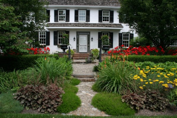 chester county farmhouse - traditional