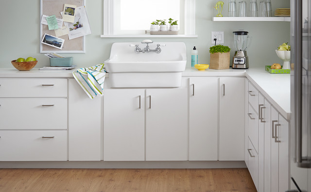 american standard country kitchen sink countertops materials kitchens - contemporary new ...