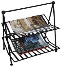 Black Wrought Iron Magazine Rack - Contemporary - Magazine ...