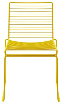 Stackable Hee Dining Chair, Yellow - Contemporary ...