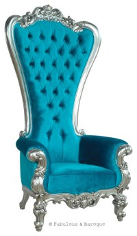 Fabulous and Baroque's Absolom Roche Chair - Turquoise ...