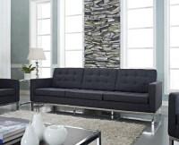 Florence Style Dark Gray Wool Loft Sofa - Midcentury ...
