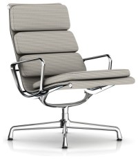 Eames Soft Pad Lounge Chair, Swivel Base, Fabric ...