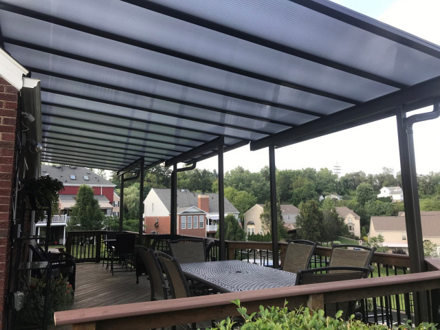 Patio Covers Bronze Translucent Panels modernpatio