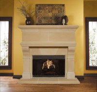Mandalay Cast Stone Fireplace Mantel - Traditional ...