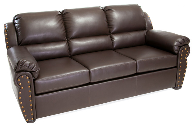 Chesterfield Brown Leather Sofa